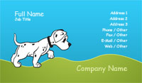 Dalmation Illustration Business Card Template